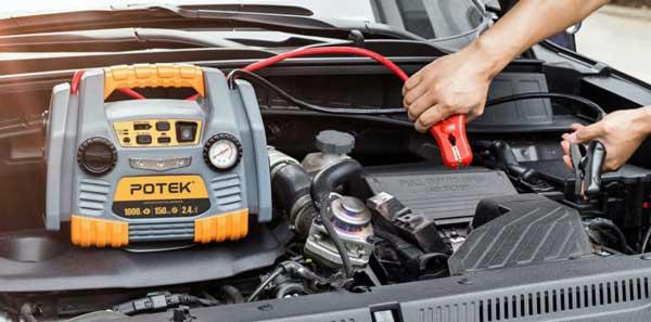 POTEK Best Portable Tire Inflator With Gauge