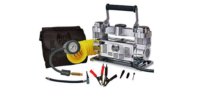 Master Flow Air Compressors Twin Cylinder Pump